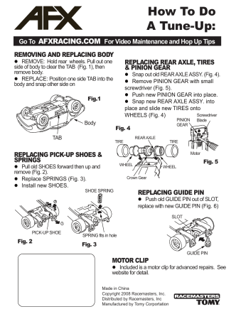 How To Do A Tune-Up: - AFX Racing