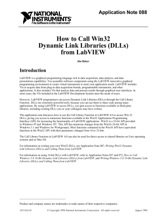 How to Call Win32 Dynamic Link Libraries (DLLs) from LabVIEW - IT360