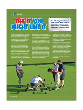 THE SHOT How To Run Try Bowls Day