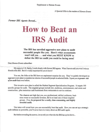 How to Beat an IRS Audit - FPP Archive