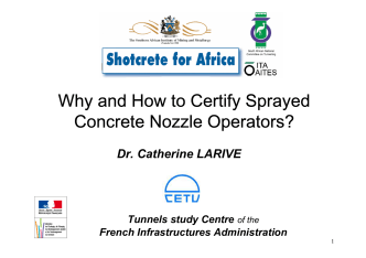 Why and How to Certify Sprayed Concrete Nozzle Operators? - saimm