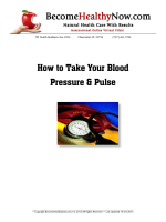 How to Take Your Blood Pressure  Pulse - BecomeHealthyNow.com