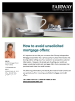 How to avoid unsolicited mortgage offers: - Active Adults Realty