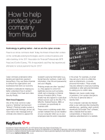 How to help protect your company from fraud - Key Bank