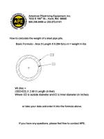 How to calculate the weight of a steel pipe pile. Basic Formula