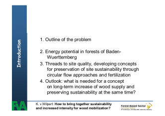 How to bring together sustainability and increased intensity for wood