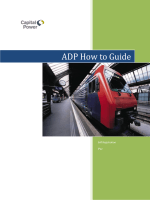 ADP How to Guide - Capital Power