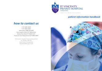 how to contact us - St Vincents Private Hospital Toowoomba