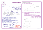 How to . . . Similar shapes - JustMaths
