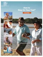 How to Stay On Your Feet Checklist - Queensland Health