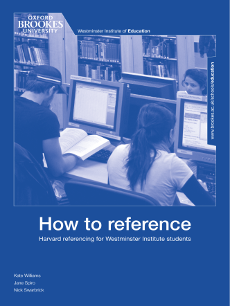How to reference - Oxford Brookes University