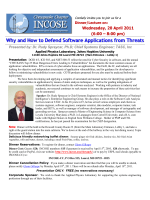 Why and How to Defend Software Applications from Threats - Incose