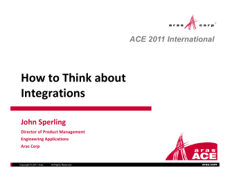 How to Think about How to Think about Integrations - Aras
