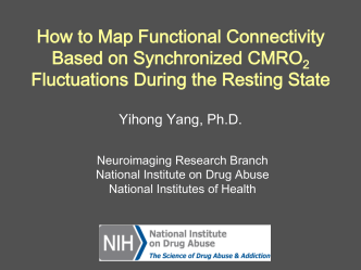 How to Map Functional Connectivity Based on Synchronized CMRO
