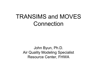 TRANSIMS-MOVES Connection