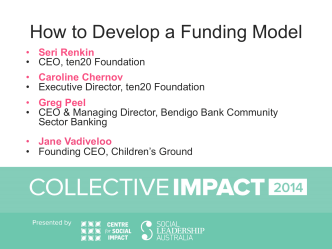 How to Develop a Funding Model - Collaboration for Impact