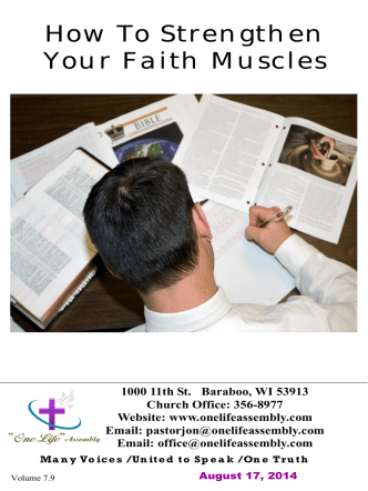 How To Strengthen Your Faith Muscles - One Life Assembly