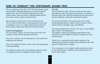 HOW TO CONDUCT THE STATIONARY SOUND TEST