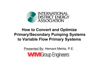 How to Convert and Optimize Primary/Secondary Pumping Systems