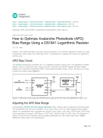 How to Optimize Avalanche Photodiode (APD) Bias Range - Maxim
