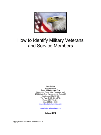 How to Identify Military Veterans and Service Members - Minnesota
