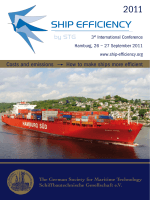 Costs and emissions How to make ships more efficient