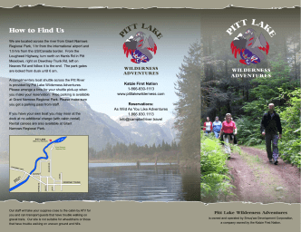 How to Find Us - Pitt Lake Wilderness Adventures