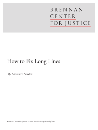 How to Fix Long Lines - Brennan Center for Justice