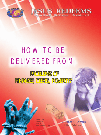 HOW TO BE DELIVERED FROM HOW TO BE - Jesus Redeems