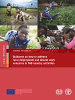 Guidance on how to address rural employment and decent work