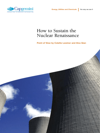 How to Sustain the Nuclear Renaissance - Capgemini