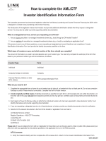 AML/CTF Investor Identification Information Form for Individuals and