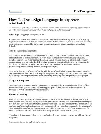 How To Use a Sign Language Interpreter - Squarespace