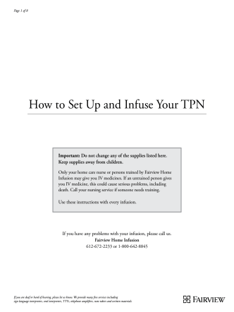 How to Set Up and Infuse Your TPN