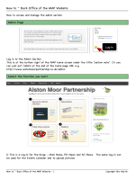 How to ~ Back Office of the AMP Website - Alston Moor Partnership