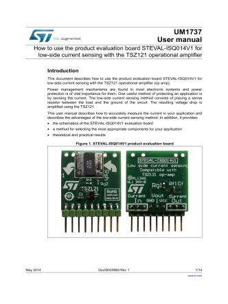 How to use the product evaluation board STEVAL-ISQ014V1 for low