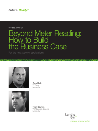 Beyond Meter Reading: How to Build the Business Case - TDWorld