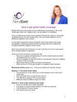 How to get great media coverage - Neryl East