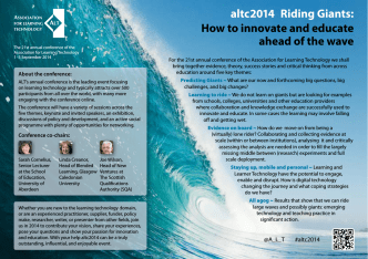 altc2014 Riding Giants: How to innovate and educate ahead of the