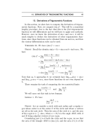 15. Derivatives of Trigonometric Functions In this - WebAssign