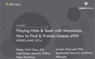 Playing Hide  Seek with Metadata: How to Find  Protect - nchica