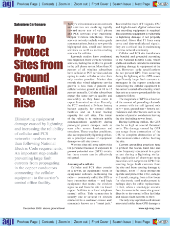 How to Protect Sites from Ground Potential Rise - Provang