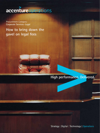How to bring down the gavel on legal fees - Accenture