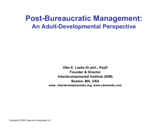 Post-Bureaucratic Management: How to Understand and Manage