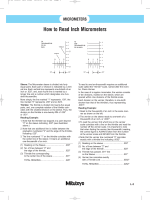 How to Read Inch Micrometers