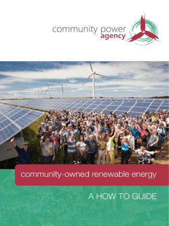 A HOW TO GUIDE community-owned renewable energy