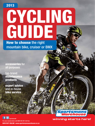 How to choose the right mountain bike, cruiser or BMX - Sportsmans