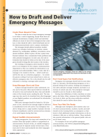 How to Draft and Deliver Emergency Messages - Campus Safety