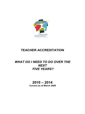 TEACHER ACCREDITATION - HOW TO …