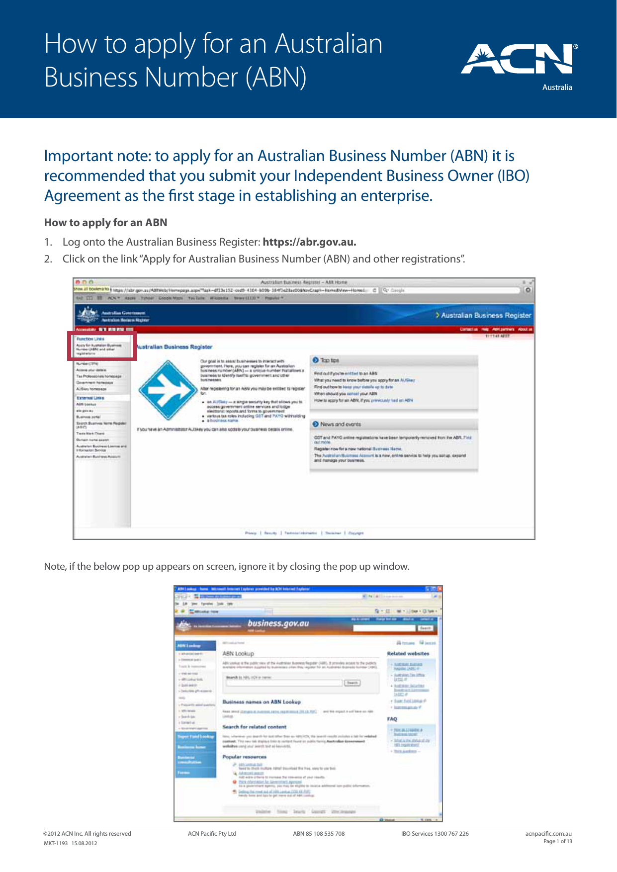 How To Apply For An Australian Business Number Abn Acn Pacific